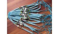 turquoise nylon hemp bracelets 20 pieces