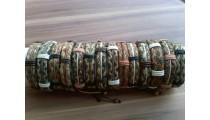 straw leather organic bracelets handmade