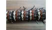 genuine leather friendship braids bracelet