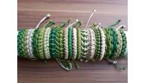 leather friendship braids bracelets