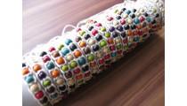 hemp bracelets wooden beads 20 pieces