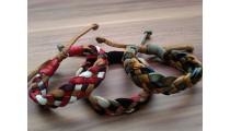 genuine leather hemp bracelets braided handmade