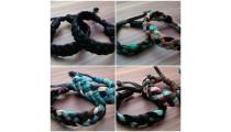 genuine leather hemp bracelets braids handmade