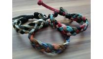genuine leather hemp bracelets braids handmade bali