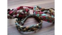 genuine leather hemp bracelets braids handmade design