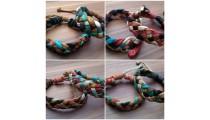 genuine leather hemp bracelets braids home made