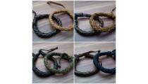leather bracelet hemp for men's designs 2015