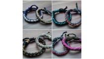 leather bracelet hemp for men's designs