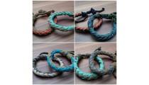 leather bracelet hemp for men's designs bali