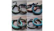 leather bracelet hemp for men's designs handmade