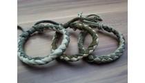 leather bracelet hemp for men's designs mix