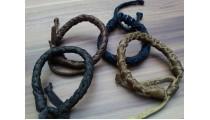 leather bracelet hemp for men's designs mono color