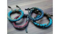 leather bracelet hemp friendship for men's designs