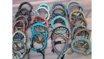 leather bracelet hemp ungender designs mix color