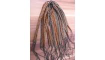 genuine leather hemp bracelets braids friendship two color