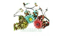 bracelets leather flower jewelry designs charms
