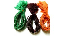 friendship bracelet braided crochet silver beading tassels
