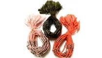 tassels bracelets braids strings charming silver beads