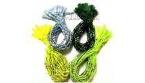 tassels bracelets braids strings mono color silver bead