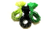 3 color tassels bracelets braids strings mono color