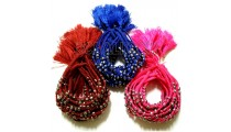 tassels bracelets braids strings mono color silver beads charms