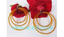 Triple Seeds Bead Earring Fashion