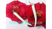 Bone Earring Organic Handmade