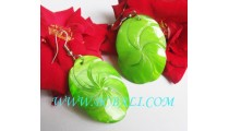 Earrings Bone Carved Flower Tropical