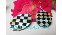Chest Shell Resin Earrings