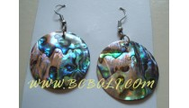 Abalone Shells earrings Organic Handmade