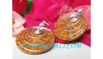 Earrings Resin Bali Design & Style
