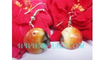 Earring Resin Hand Painted Abstrac