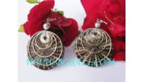 Handmade Earring Shell Resin Indonesia
