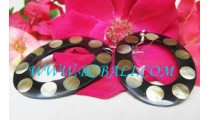 Earring Resin Shell Oval Design Hole