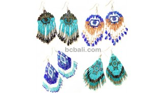 bali beads crystal miyuki earrings indian style