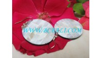 MOP Shell Earrings Resin