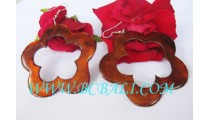 Organic Shells Carved Earring Drop Coloring
