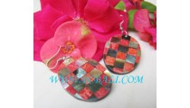 Red Coral Shell Earrings Design