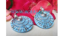 Resin Earrings Hooked Bali
