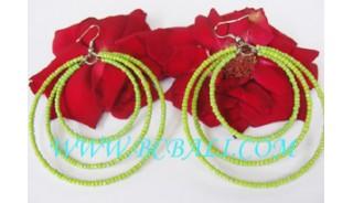 Seeds Bead Earrings Green