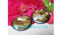 Shell Earrings Golden Resin
