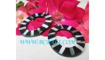 Shell Earrings Resin Blaster Motif