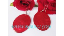 Shells Earrings Women Fashion Red Color