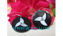 Unique Design Black Seashell Earring