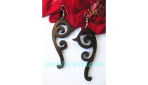 Bali Woods Carved Earring