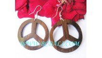 Carved Organic Woods Earring Handwork