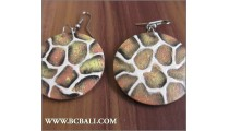 Accessories Earrings Woods Circle Painted