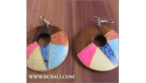 Accessories Woman Earrings Colored Woods