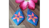 Assorted Color Earrings Fashion Wood Bali