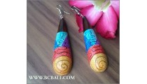 Bali Earring Wooden Hand Painting